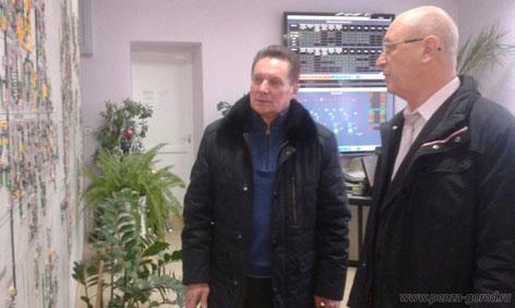 Глава администрации Пензы Виктор Кувайцев ознакомился с работой теплосетевой компании Саранска